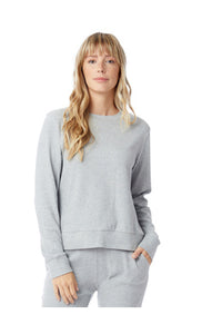 COTTON MODAL INTERLOCK PULLOVER SWEATSHIRT