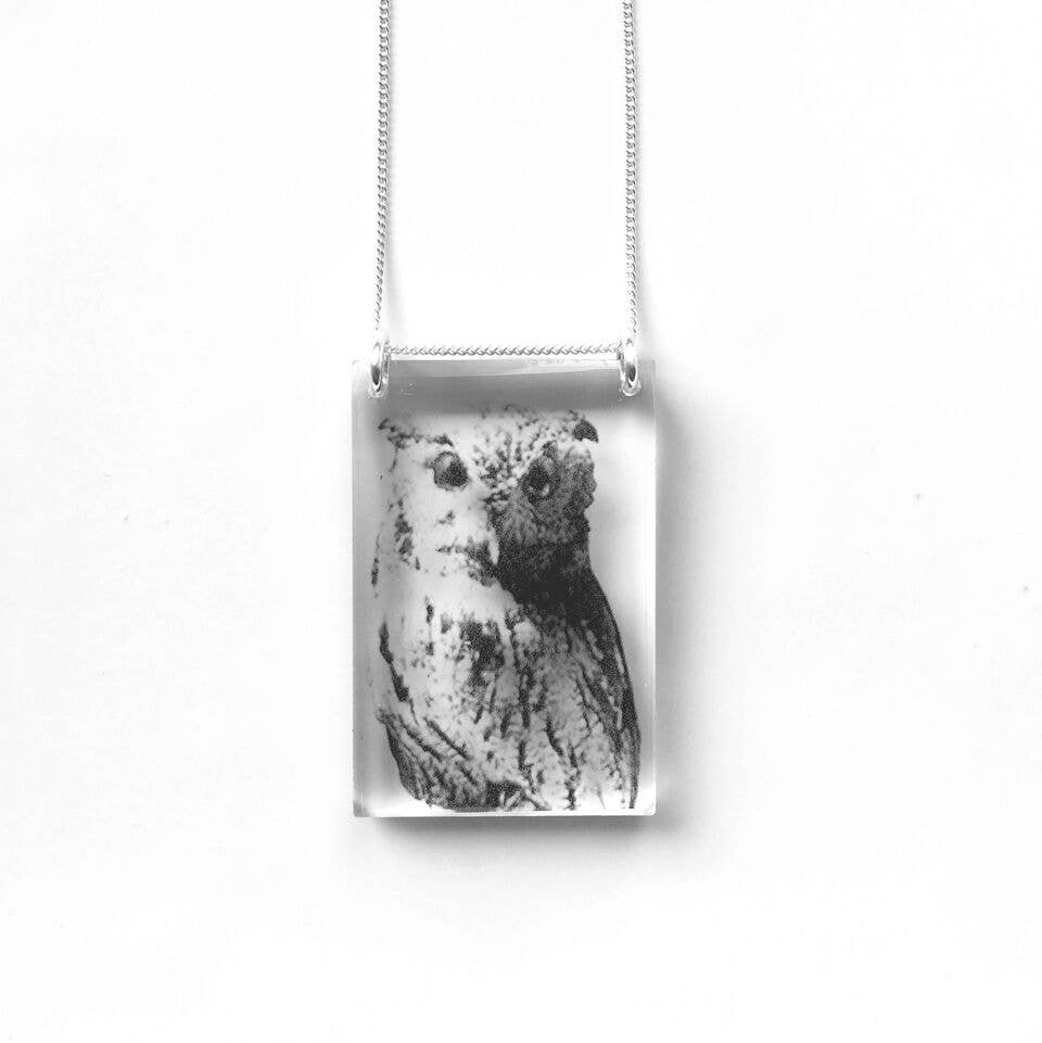 Tall Owl Necklace