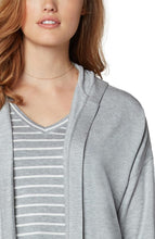 Load image into Gallery viewer, Drop shoulder cardigan with hood