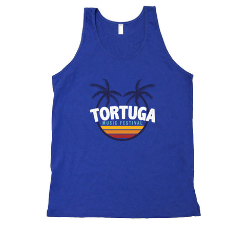 Royal Blue Retro Unisex Tank