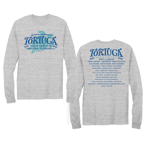 2017 Commemorative Unisex Long Sleeve T-Shirt  *LINEUP ON BACK
