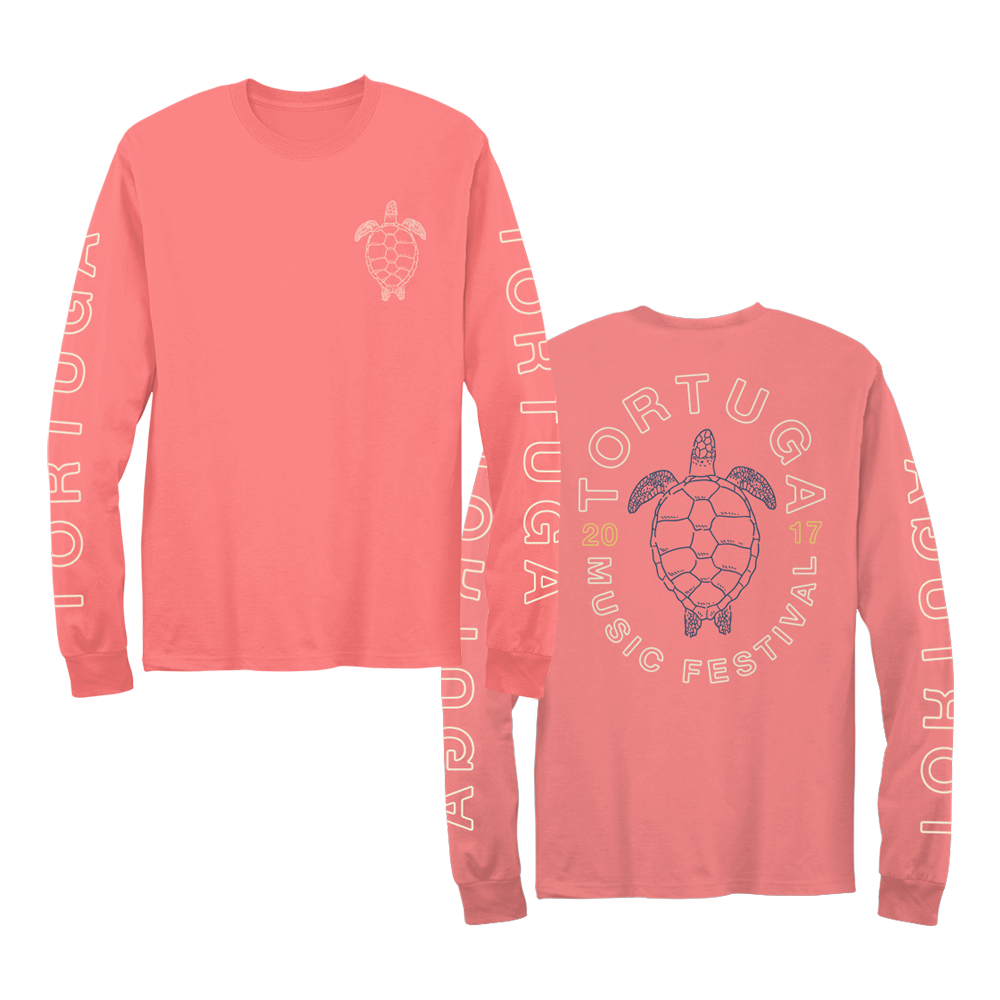 2017 Orange Turtle Unisex Long-Sleeve