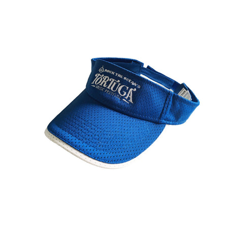 Royal Blue Mesh Logo Visor