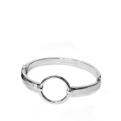 Marlyn Schiff - Open Circle Metal Bangle Bracelet