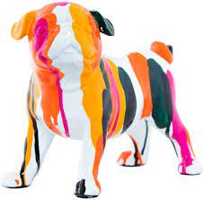 "Interior Illusions - Expressionist Standing Bulldog - 9"" long"
