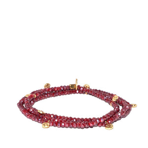 Marlyn Schiff - Mini Crystal Discs Beaded Stretch Bracelet