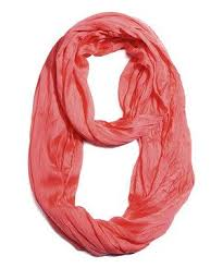 Look - Solid Scrunch Infinity Scarf