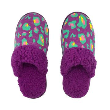 Pudus - Purple Leopard Print Slide
