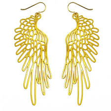 Daphne Olive - 20K Gold Small Wings #3 Earring