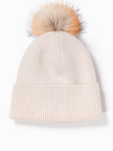 Look - Cashmere Blended Pom Pom Hat