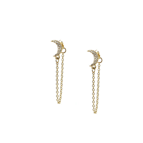 Marlyn Schiff - Crescent Drape Post Earring