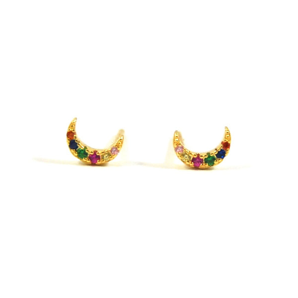 FYB - Rainbow Moon Earring