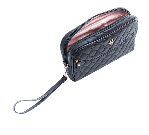 PurseN - Clutch Make up Case Timeless Quilted Black