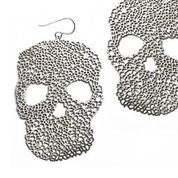 Daphne Olive - Small Skull Earrings Silver