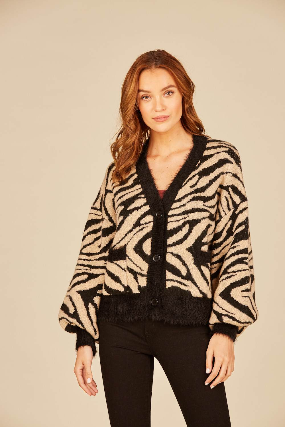 Vintage Havana - Animal Boxy Crop Cardigan
