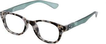 Peepers - Show Stopper Gray Tortoise/Green Readers