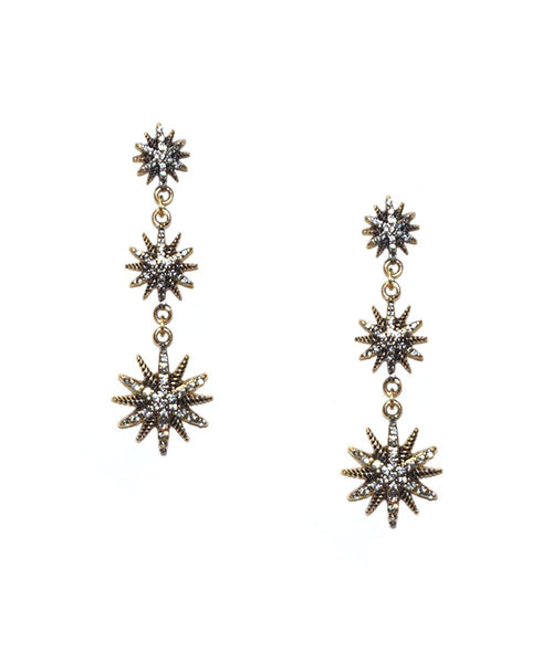 *Marlyn Schiff - Three Starburst Post Earring