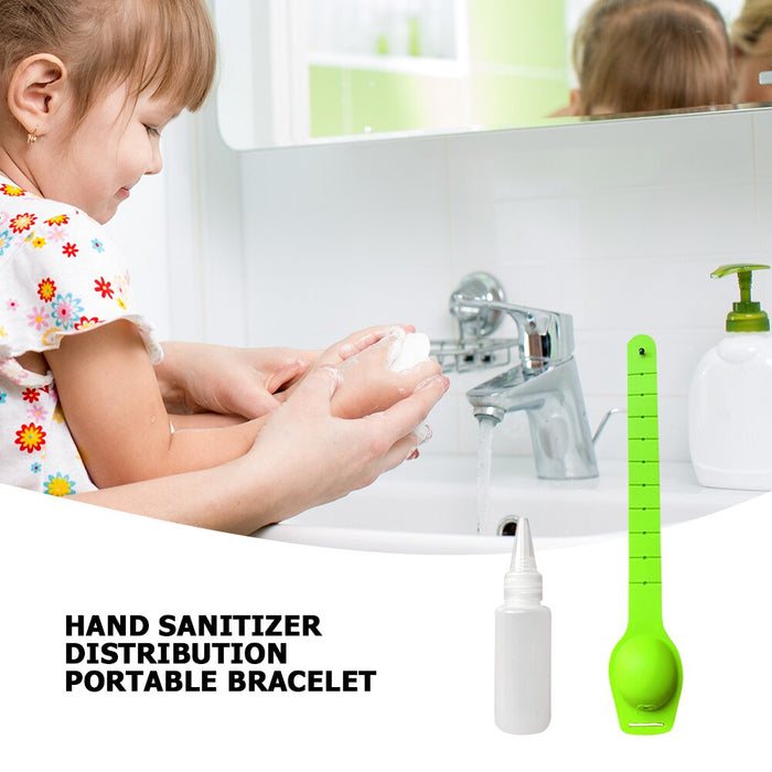 Silicone Portable Bracelet Alcohol Disinfection Spray Wrist Strap Dispenser Hand Sanitizer Holder Watch Bracelet