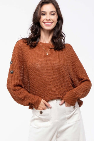 Shoulder Button Sweater