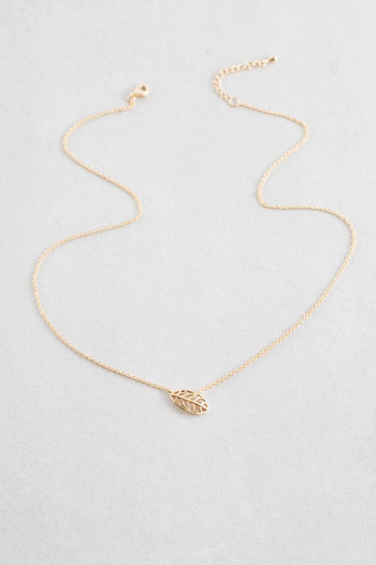 Dainty Elm Leaf Necklace