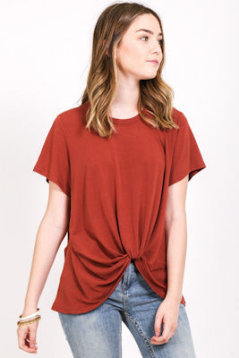 Tuck Front Short Sleeved Tee