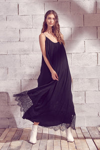 Lace Hem Maxi Dress
