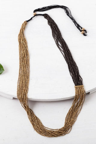 Two-Tone Beaded Necklace