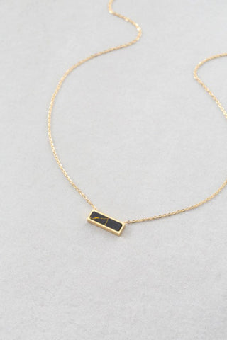 Beaming Bar Stone Necklace