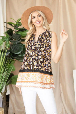 Addie Sleeveless Floral Blouse