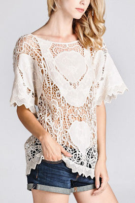Cotton Crochet Lace Top