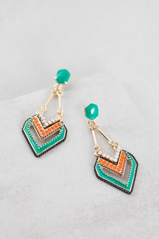 Aura of Color Drop Earrings