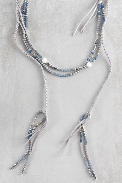 Cayne Wrap Necklace - Gray