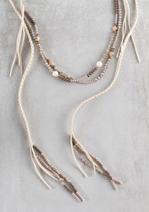 Cayne Wrap Necklace - Tan