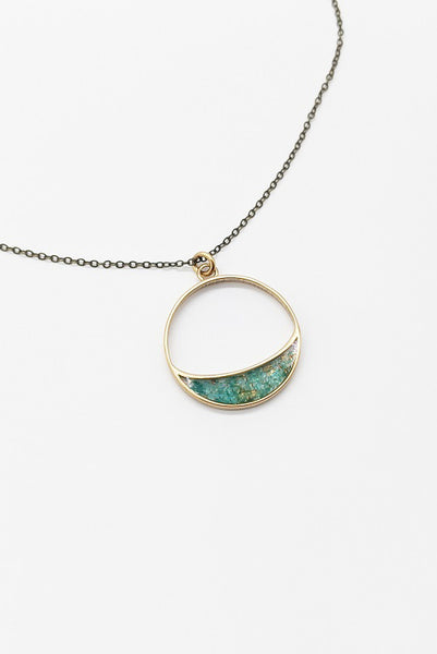 Long Crescent Necklace
