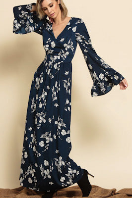 Hailey Belted Wrap Maxi Dress