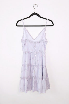 Lilac Floral Mini Sundress