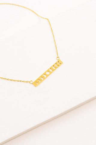 Lunar Phase Bar Necklace