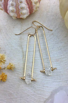 Modern Chic 14k Gold Filled Frame Earrings