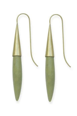 Ceramic and Brass Spike Earrings