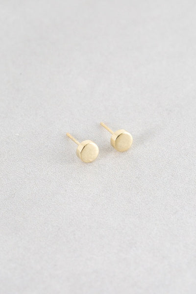 Polished Circle Stud Earrings