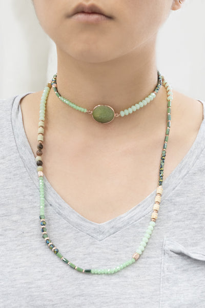 Serene Pastels Jade Beaded Necklace
