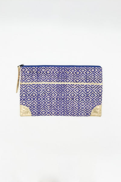 Inverness Straw Clutch