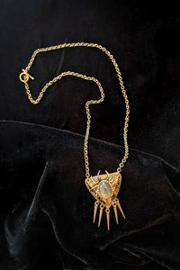 Fringed Creepy-Crawly Necklace