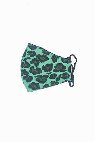 Wild Heart Face Mask - Emerald