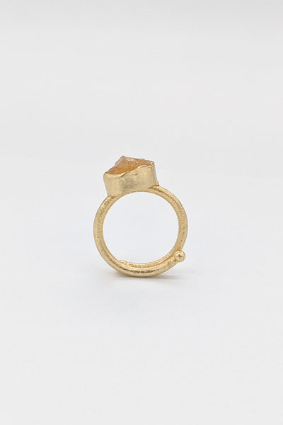 Classic Raw Stone Ring - Citrine