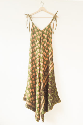Sari Jumpsuit - Green and Gold