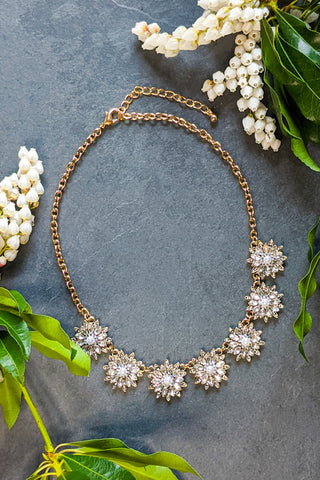 Blossoming Crystal Necklace