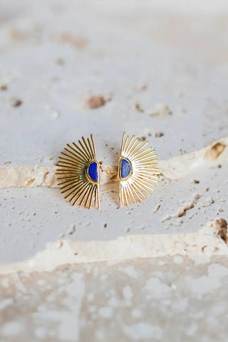 Starburst Stud Earrings - Lapis Lazuli
