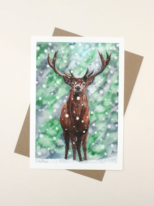 Julie Longdon - Special LE Print Stag in Blizzard
