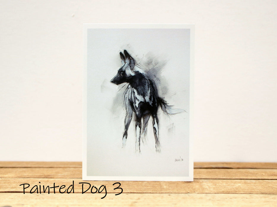 Heather Irvine - A6 Painted Dog Greetings cards set 2 - different designs to choose from!